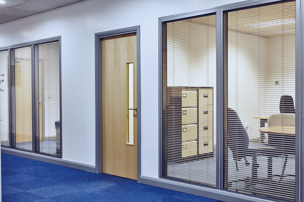 Commercial Office Glass Partitioning And Integral Blinds Spatial Design And  Planning Part 28