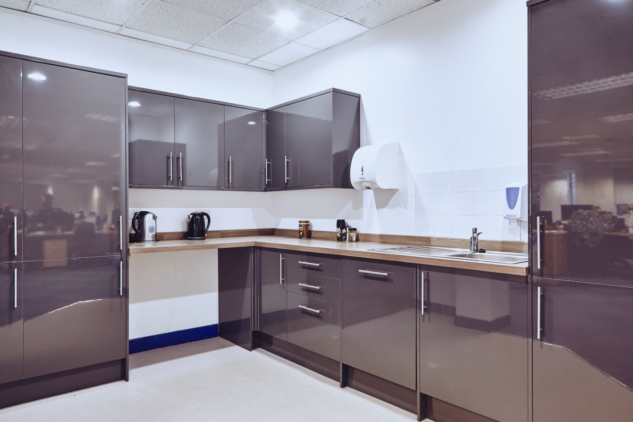 kitchen design telford. open planned fitted office kitchen design telford